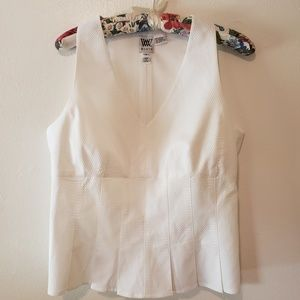 White Pique' Top by Worth, Sz 10